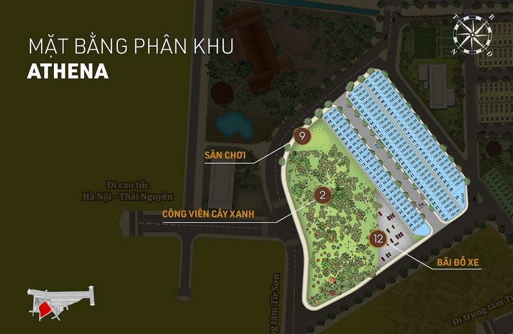 Phân khu Athena dự án Aroma Đồng Kỵ - Từ Sơn - Bắc Ninh