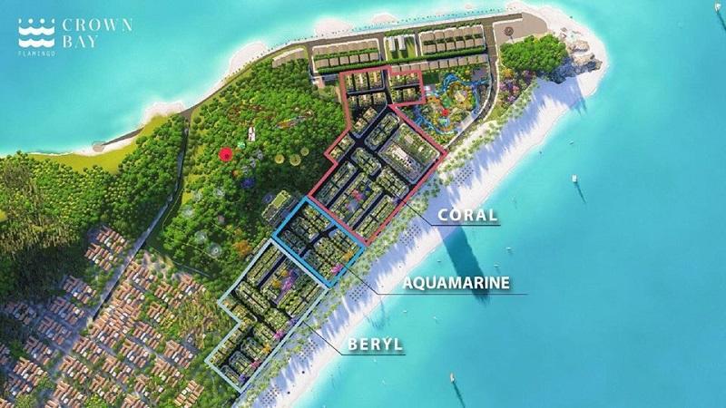Phân khu dự án Flamingo Crown Bay Hải Tiến Thanh Hóa