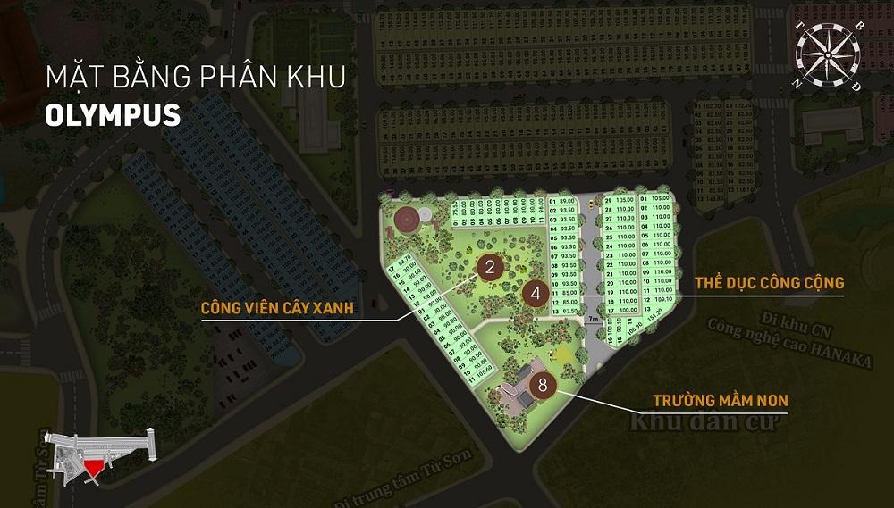 Phân khu Olympus dự án Aroma Đồng Kỵ - Từ Sơn - Bắc Ninh