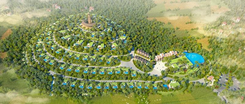 Phối cảnh 1 dự án Long Thành Luxury Resort Hòa Bình