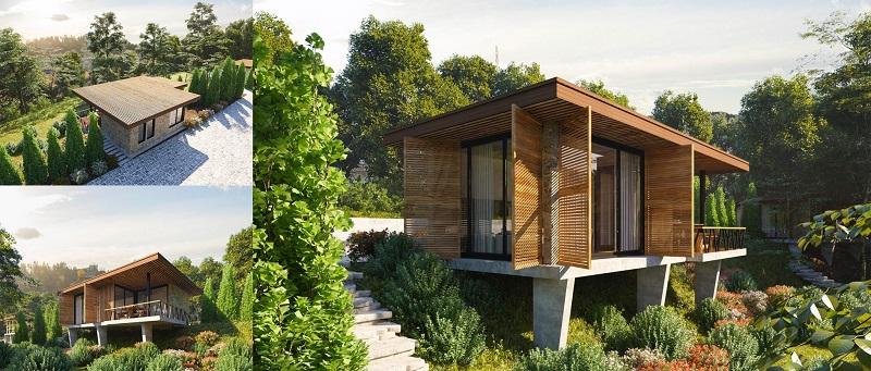 Phối cảnh Bungalow dự án Long Thành Luxury Resort Hòa Bình