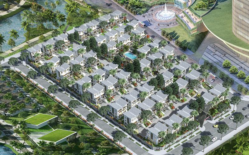 Phối cảnh dự án biệt thự Khai Sơn Hill Long Biên
