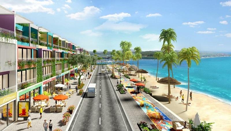 Phối cảnh Shophouse mặt biển Flamingo Crown Bay Hải Tiến - Thanh Hóa