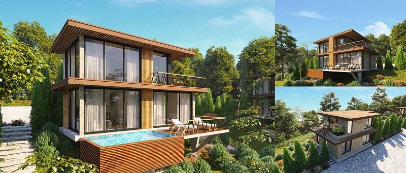 Phối cảnh Villa 2 tầng dự án Long Thành Luxury Resort Hòa Bình