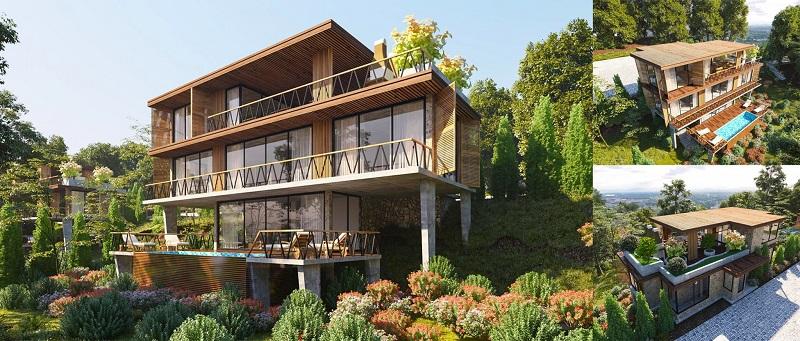 Phối cảnh Villa 3 tầng dự án Long Thành Luxury Resort Hòa Bình