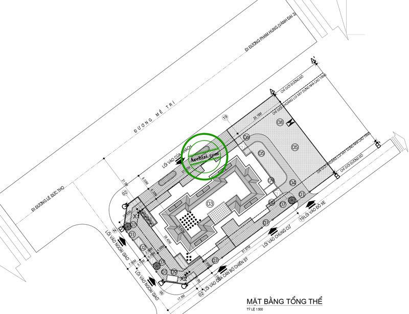 Quy hoạch dự án chung cư A63 Bộ Công An - Mễ Trì