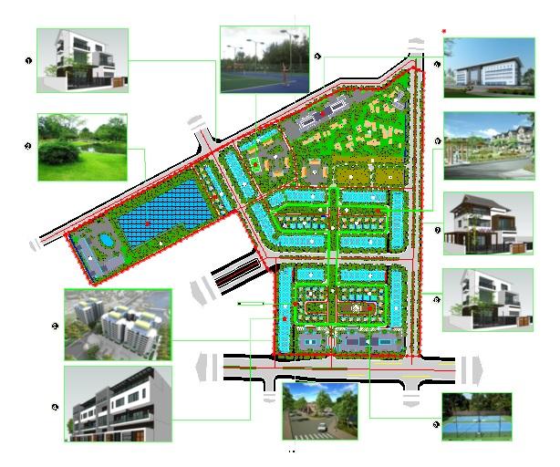 Quy hoạch hạ tầng dự án Hòa Bình New City (Sudico Bắc Trần Hưng Đạo)