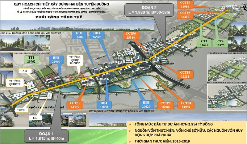 Quy hoạch Khai Sơn Hill trong khu đô thị Khai Sơn City Long Biên