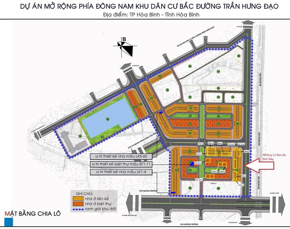 Quy mô dự án Hòa Bình New City (Sudico Bắc Trần Hưng Đạo)