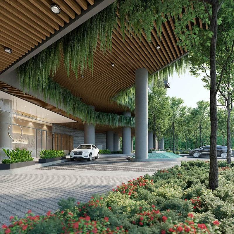 Sảnh chung cư Park Kiara dự án Park City Hà Nội