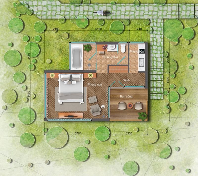 Thiết kế Bungalow dự án Long Thành Luxury Resort Hòa Bình