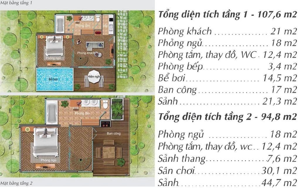 Thiết kế Villa dự án Long Thành Luxury Resort Hòa Bình