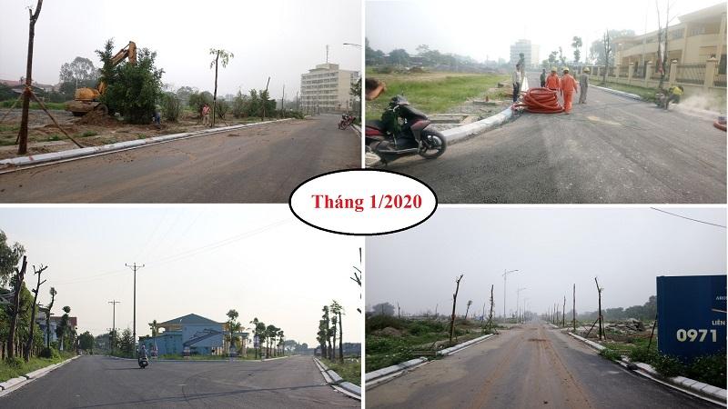 Tiến độ tháng 1 dự án Aroma Đồng Kỵ - Từ Sơn - Bắc Ninh