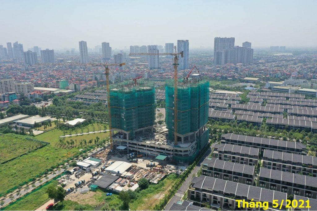 Tiến độ thi công Park Kiara Hà Đông tháng 5/2021