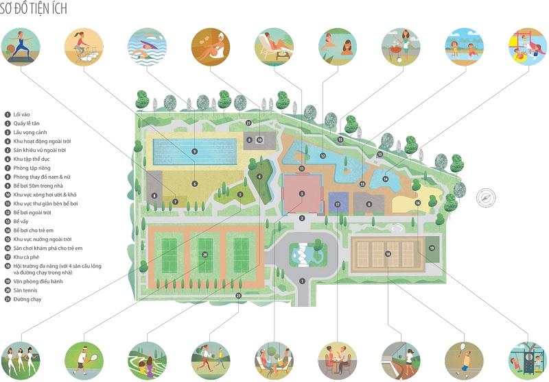Tiện ích chung cư Park Kiara dự án Park City Hà Nội