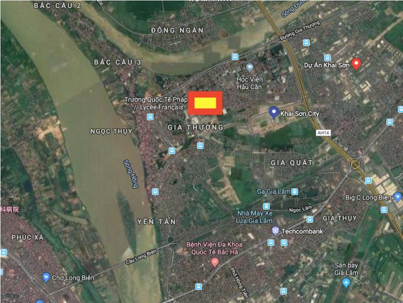 Vị trí dự án biệt thự Khai Sơn Hill Long Biên
