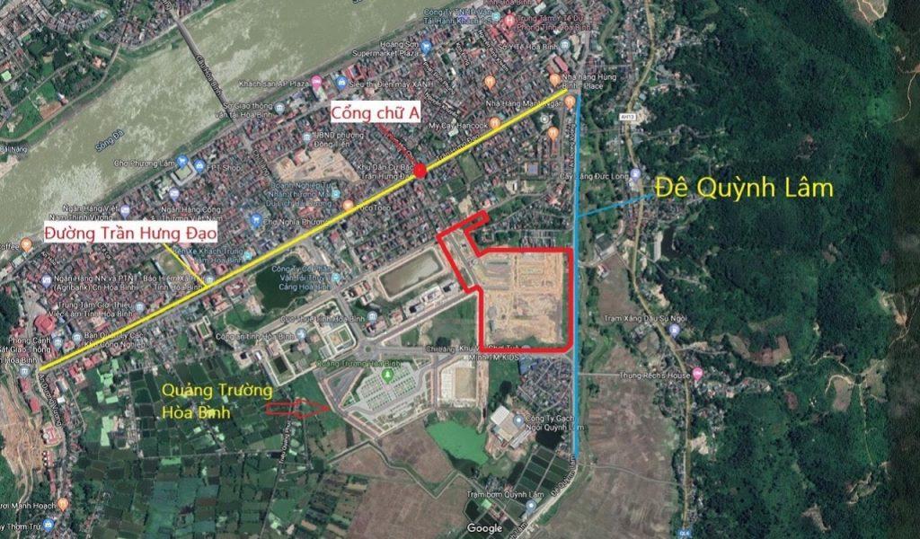 Vị trí dự án Hòa Bình New City (Sudico Bắc Trần Hưng Đạo)