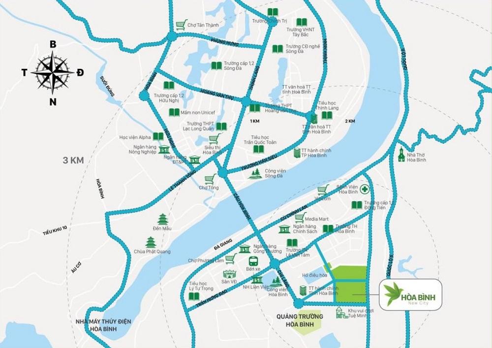 Vị trí khu đô thị Bắc Trần Hưng Đạo (Hòa Bình New City)