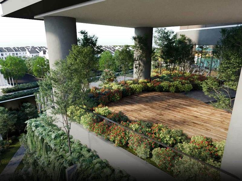 Vườn treo chung cư Park Kiara dự án Park City Hà Đông