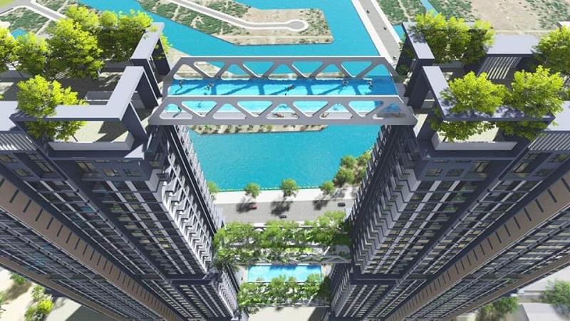 Bể bơi tháp đôi Sky Oasis khu đô thị Ecopark