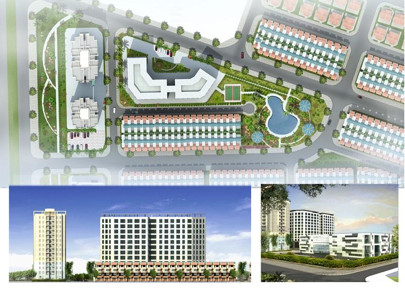 Cảnh quan 1 dự án Khu đô thị Minh Đức - Mê Linh