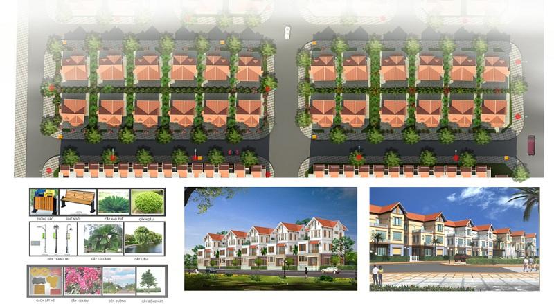 Cảnh quan 2 dự án Khu đô thị Minh Đức - Mê Linh