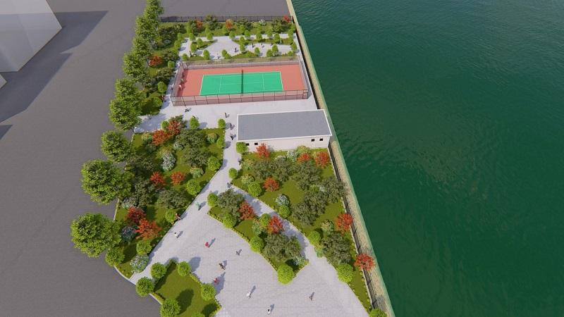 Cây xanh hồ điều hòa dự án Mê Linh Vista City 2020