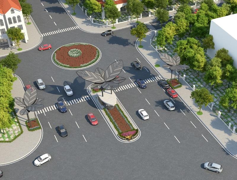 Cổng dự án Feni City Hạ Long - Cao Xanh Hà Khánh C