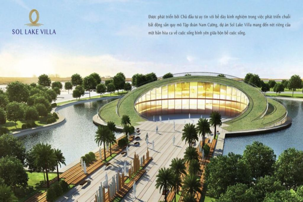 Công viên âm nhạc dự án Sol Lake Villa Biệt thự Đô Nghĩa - Dương Nội - Nam Cường