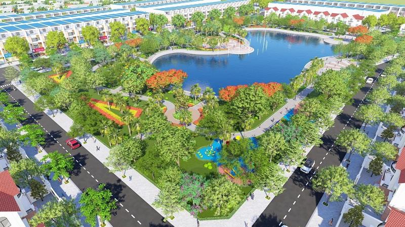 Công viên trung tâm dự án Phố Thắng Central Park Hiệp Hòa - Bắc Giang