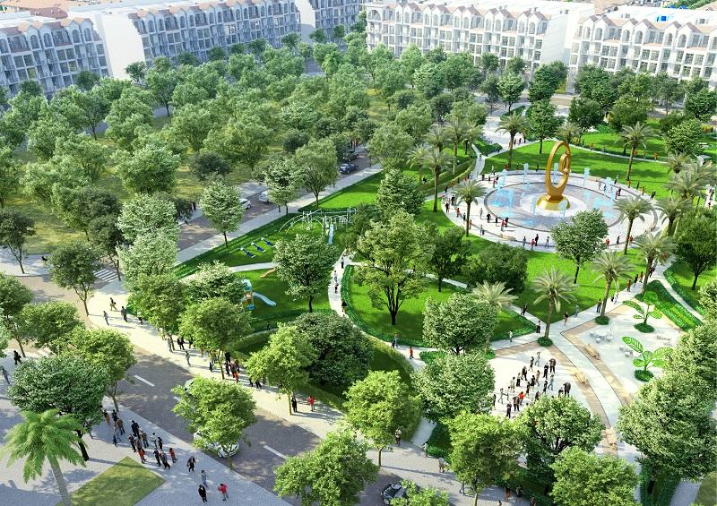 Công viên trung tâm dự án Feni City Hạ Long - Cao Xanh Hà Khánh C