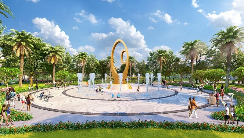Đài phun nước dự án Feni City Hạ Long - Cao Xanh Hà Khánh C