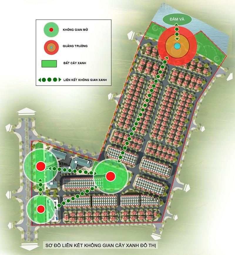 Hạ tầng cây xanh dự án Khu đô thị Minh Đức - Mê Linh