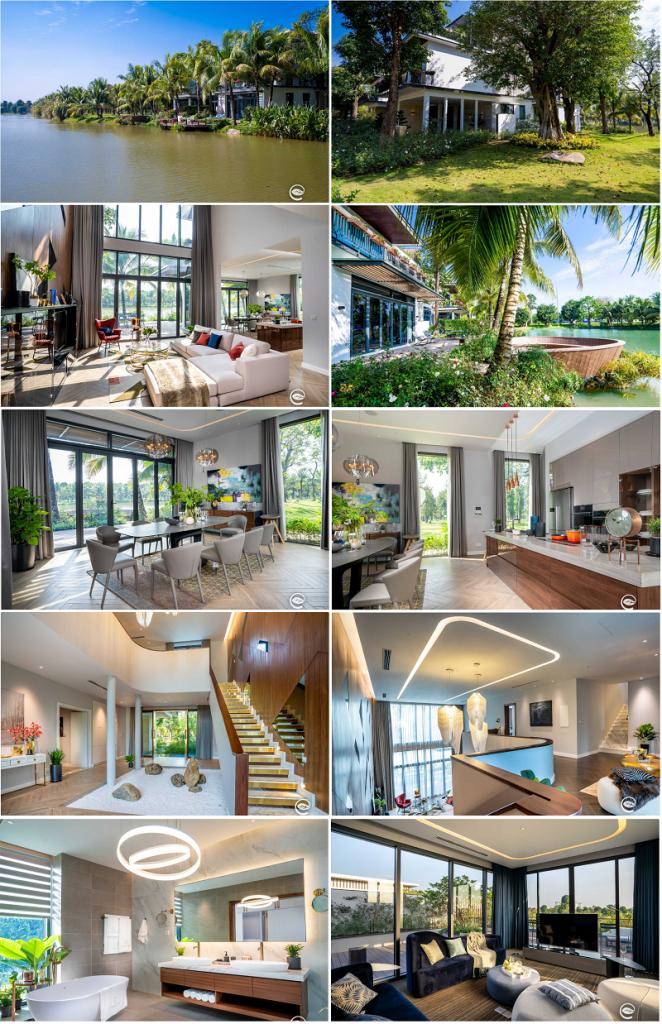 Hình ảnh thực tế biệt thự mẫu A1 Biệt thự đảo Ecopark