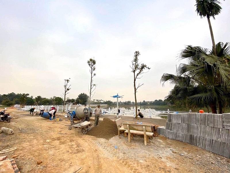 Hình ảnh thực tế 8 hạ tầng đất nền Hòa Lạc Lotus