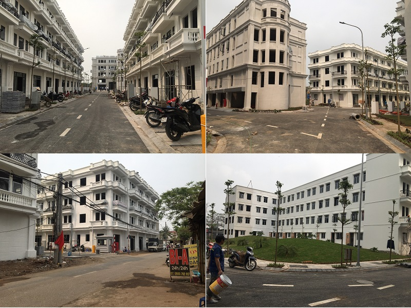 Hình ảnh thực tế dự án Liền kề Phú Diễn Vinadic