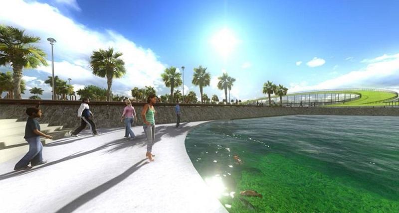 Hồ điều hòa dự án Sol Lake Villa Biệt thự Đô Nghĩa - Dương Nội - Nam Cường