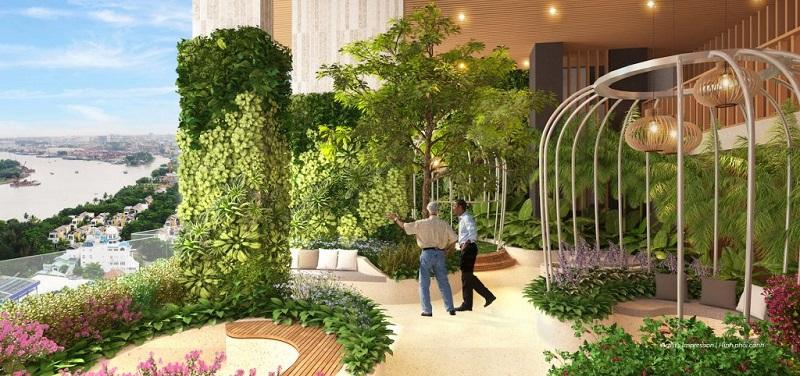 Không gian xanh dự án Fraser Residence Simco Xuân Đỉnh