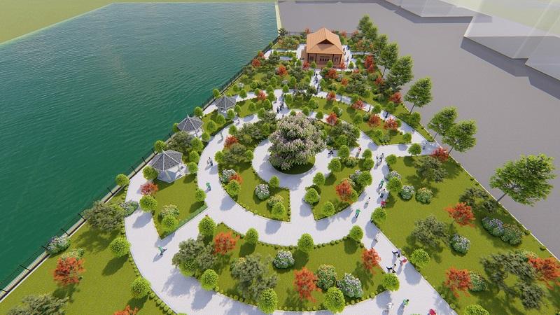 Không gian xanh dự án Mê Linh Vista City 2020