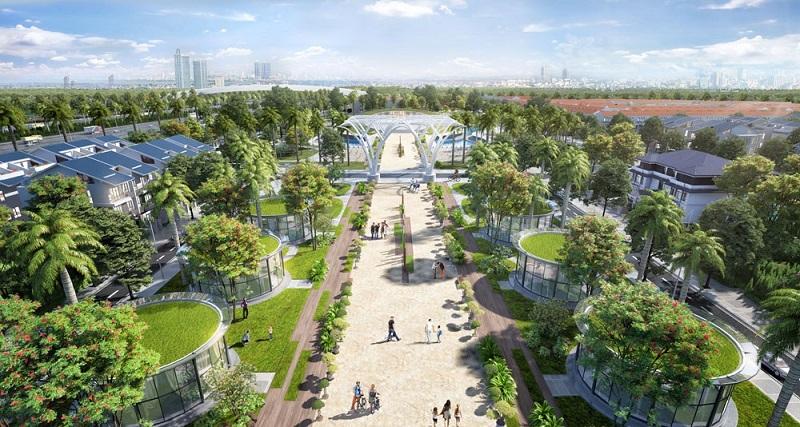 Không gian xanh dự án Sol Lake Villa Biệt thự Đô Nghĩa - Dương Nội - Nam Cường
