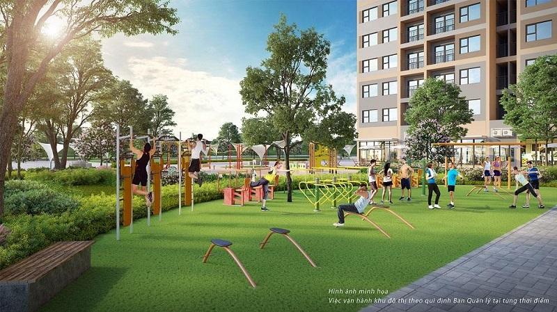 Khu tập thể dục thể thao dự án Mê Linh Vista City 2020