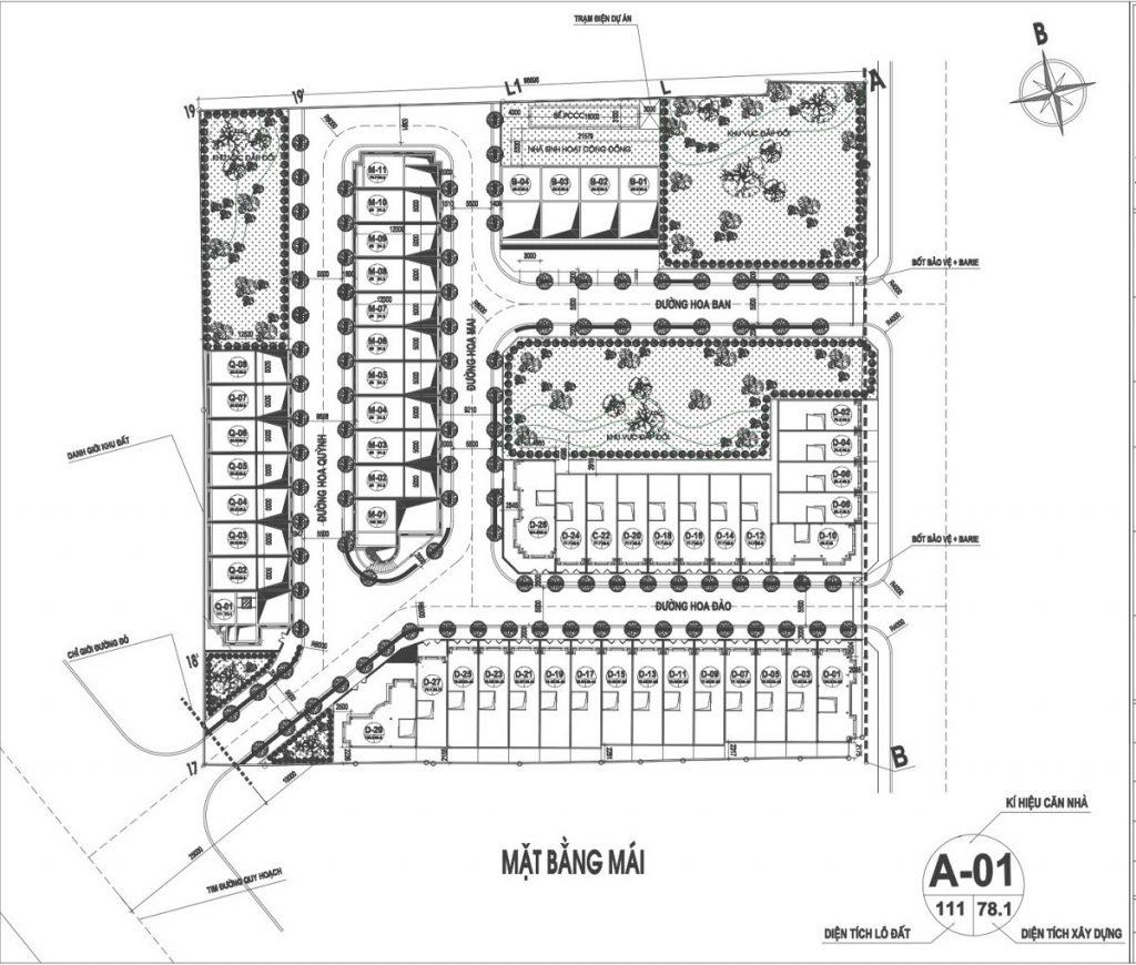 Mặt bằng phân lô dự án Liền kề Phú Diễn Vinadic