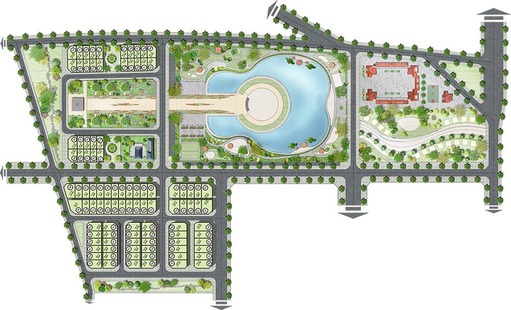 Mặt bằng phân lô dự án Sol Lake Villa Biệt thự Đô Nghĩa - Dương Nội - Nam Cường