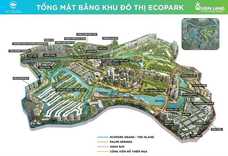 Mặt bằng tổng thể khu đô thị Ecopark