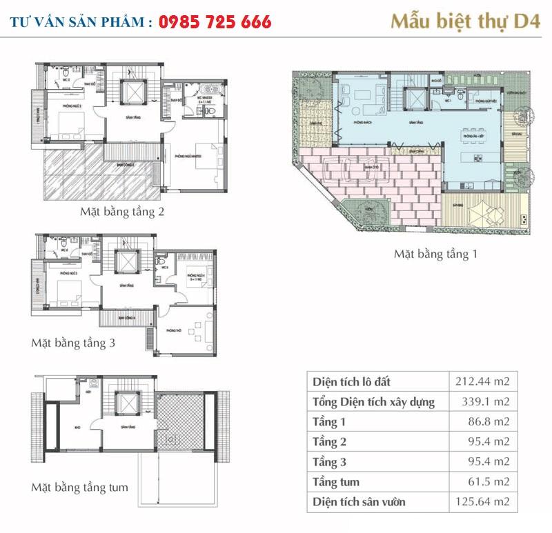 Mẫu thiết kế D4 Sol Lake Villa Biệt thự Đô Nghĩa - Dương Nội - Nam Cường