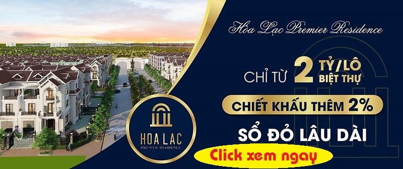 Mở bán khu đô thị Hòa Lạc Premier Residence 2020