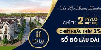 Mở bán dự án Hòa Lạc Premier Residence 2020