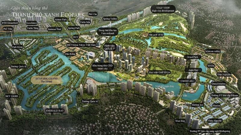 Phân vùng trong khu đô thị Ecopark