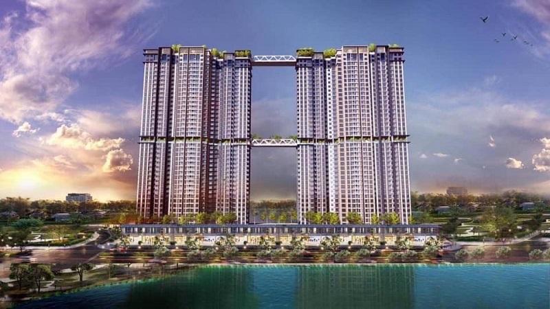 Phối cảnh 1 tháp đôi Sky Oasis khu đô thị Ecopark