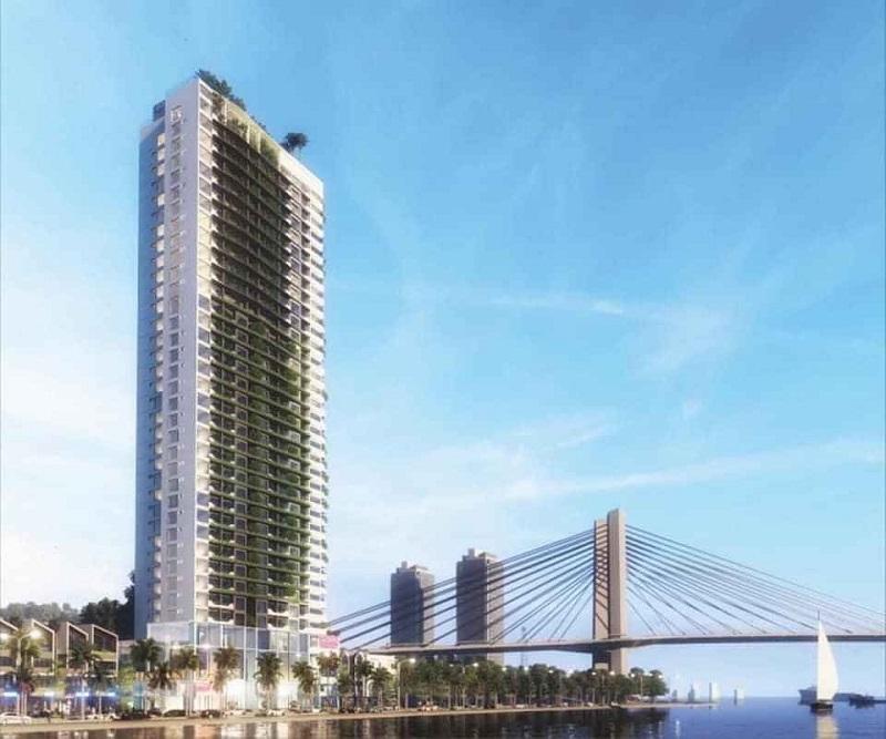 Phối cảnh 2 dự án chung cư Green Diamond Hạ Long chân cầu Bãi Cháy